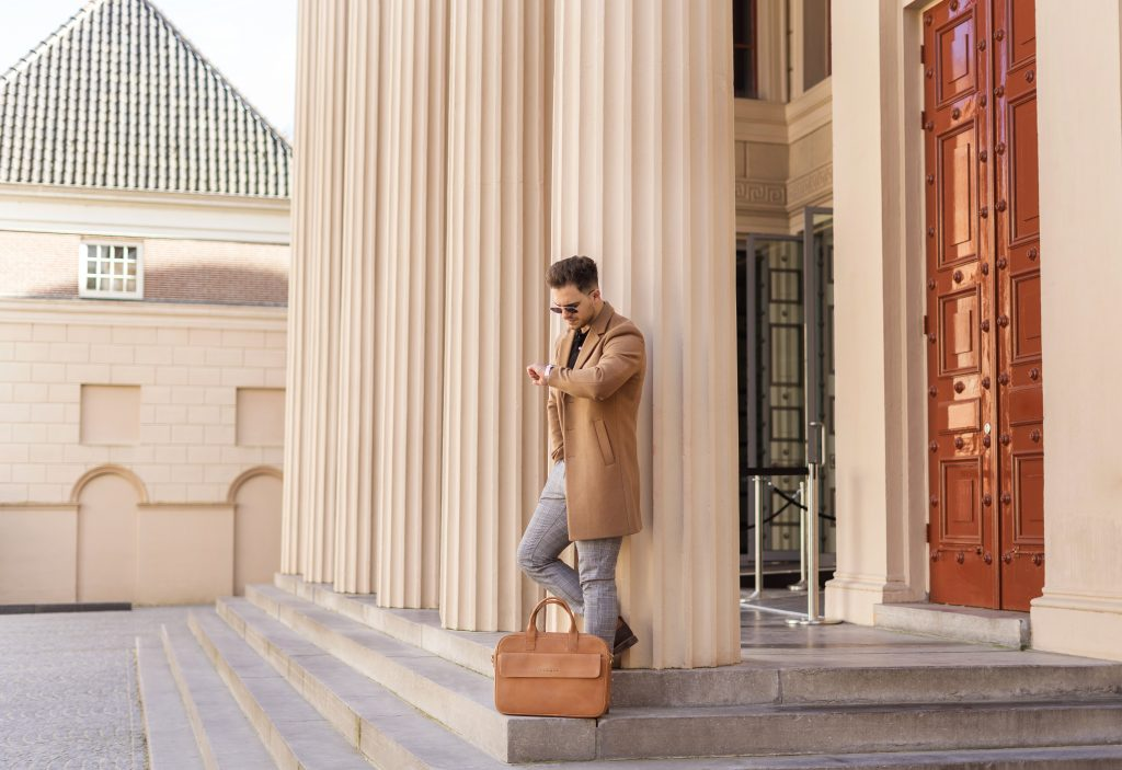 Brown Laptop Bag - Commercial Photography - Negotia Leather