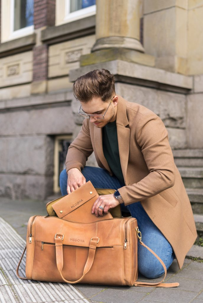 Brown Weekend Bag - Commercial Photography - Negotia Leather